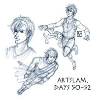 Artslam: Muse Day 50-52 by KabochaN