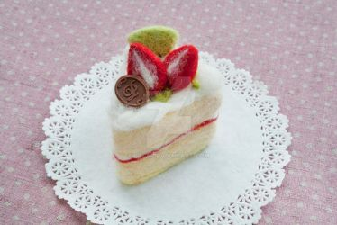 Needle Felted Fruit Cake by li-sa