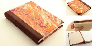 Marbled Leather Journal by GatzBcn