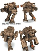 Battletech / MechWarrior Dire Wolf Prime - Daishi by lady-die