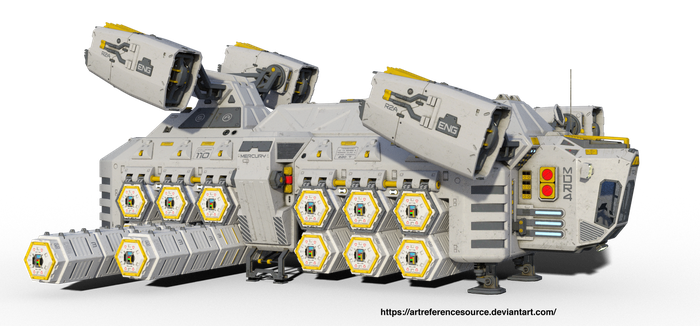 Free Stock PNG:  Sci Fi Cargo Ship by ArtReferenceSource