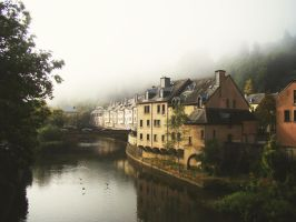 Foggy Luxembourg by blueionis