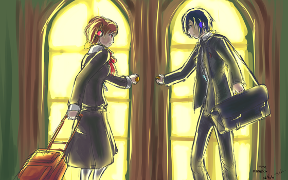 Persona 3 - Time Paradox by bahamutneo