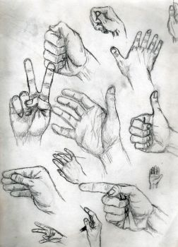 Hand Study by toekneearrows