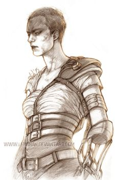 Mad Max: Fury Road - Furiosa sketch by Lehanan