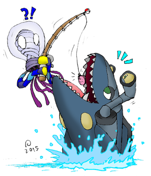 Omnis Fanart - Gone Fishin' by SkarmorySilver