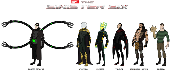 Marvel - The Sinister Six 2015 by HewyToonmore