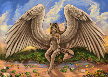 Angel from the sky by FlashW