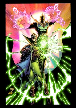 Dr. Fate and Green Lantern by xXNightblade08Xx