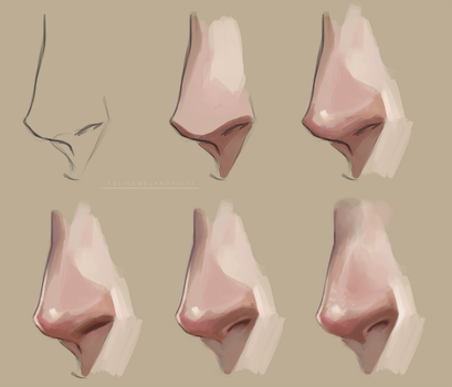 Nose Painting Tutorial by artisticxhelp