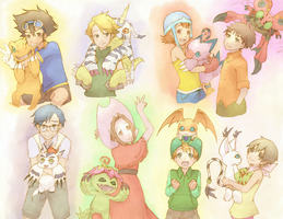 Digimon by skrlt