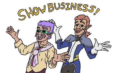 Coran and Elmo: Show Business Space Elves by beedok