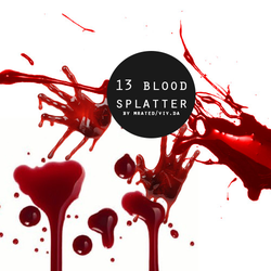 BLOOD STAIN png stock pack by vanillaisyummy