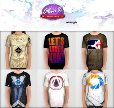Full Coverage/All-Over Print Tees by mau