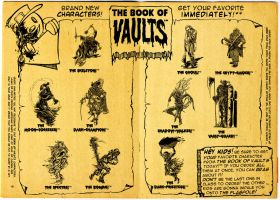 BOOK of VAULTS comic style-ad by Nagymarci