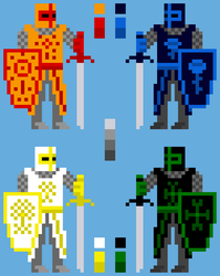 Four types of knights by Kohtaz
