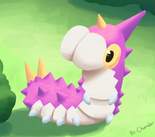 Shiny Wurmple - Fan art by Chander-Fox