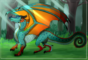 Glory Rainwings (Wings of Fire Fanart) by FanDragonBrigitha