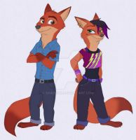 Zootopia - John and Mary by Shadeink