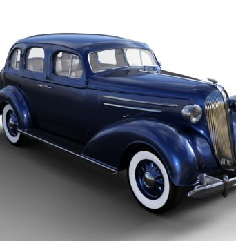 1936 AM SedanBody Blue  by JGreenlees