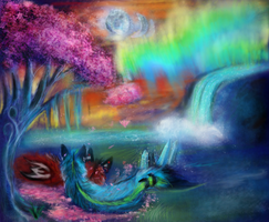 Among Candy Trees and Moonsets by KichisCrafts