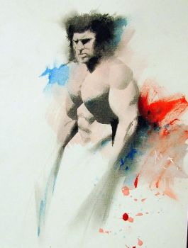 wolverine watercolor by sneedd