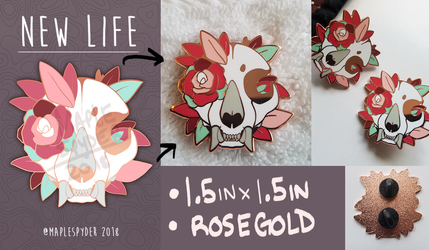 New Life :: ENAMEL PIN PREORDER by MapleSpyder