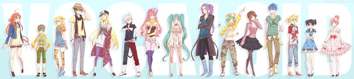 Vocaloid: we are too sexy by HaruMaru-Shi