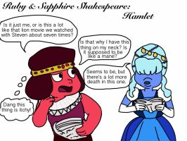 Ruby and Sapphire Shakespeare:  Hamlet by Artdirector123