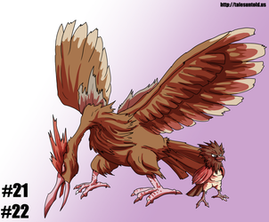 Spearow Family- Gotta Draw 'Em All #21, 22 by Punished-Kom
