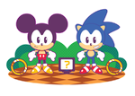 Sonic and Mickey by Itachi-Roxas