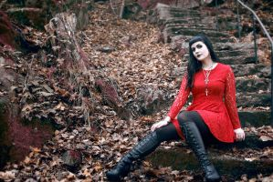 Red in fall by Robgrafix