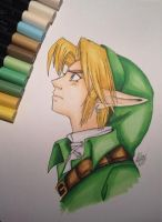 Link Ocarina of Time by LaraWegenaerArts
