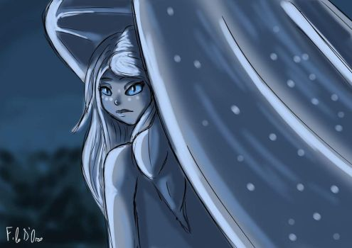 Light Fury_ How to Train Your Dragon 3 by SketchInkGirl