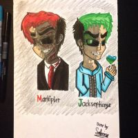 Markiplier and Jacksepticeye (Dark Version) by Riyana2