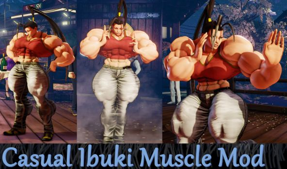 Casual Ibuki Muscle Mod Commission by Ripped-Pixels