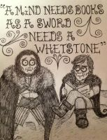 Jon Snow and Tyrion Lannister by timburtongot