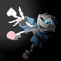 Sans falling in darkness by BeckerKun