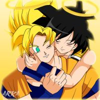 Goku y Gine (Goku and Gine) by CFFC2010