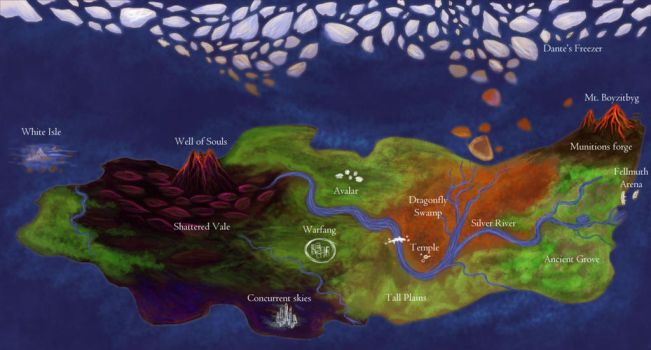 Map of the Dragon Realms by LordVerdauga