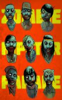 zombie hipster parade by agentfox