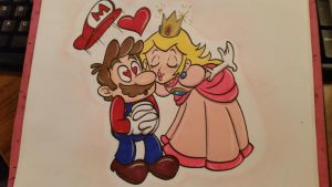 Commission: Mario and Princess Peach by TacoElGatoComics