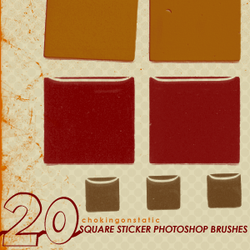 square sticker brushes by chokingonstatic