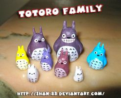 Totoro Family by MaryShan