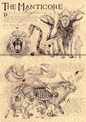 THE MANTICORE - PERSIAN MYTHOLOGY by Zellgarm