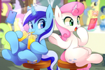 Commission 1 : Minuette and Twinkle shine by Marenlicious