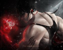 Jin Kazama ( shirtless optional ) by axouel2009