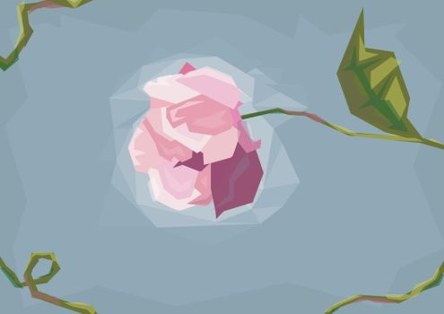 Flower and Polygons by Ozellius
