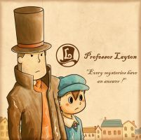 Layton and Luke by Jasrah