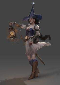 Nyx - Witch Concept by Shetrix